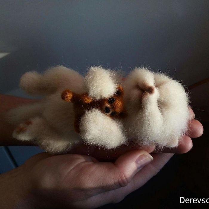 Artista russo criar animais de lã feltrada que são uma fofura (25 fotos) 26