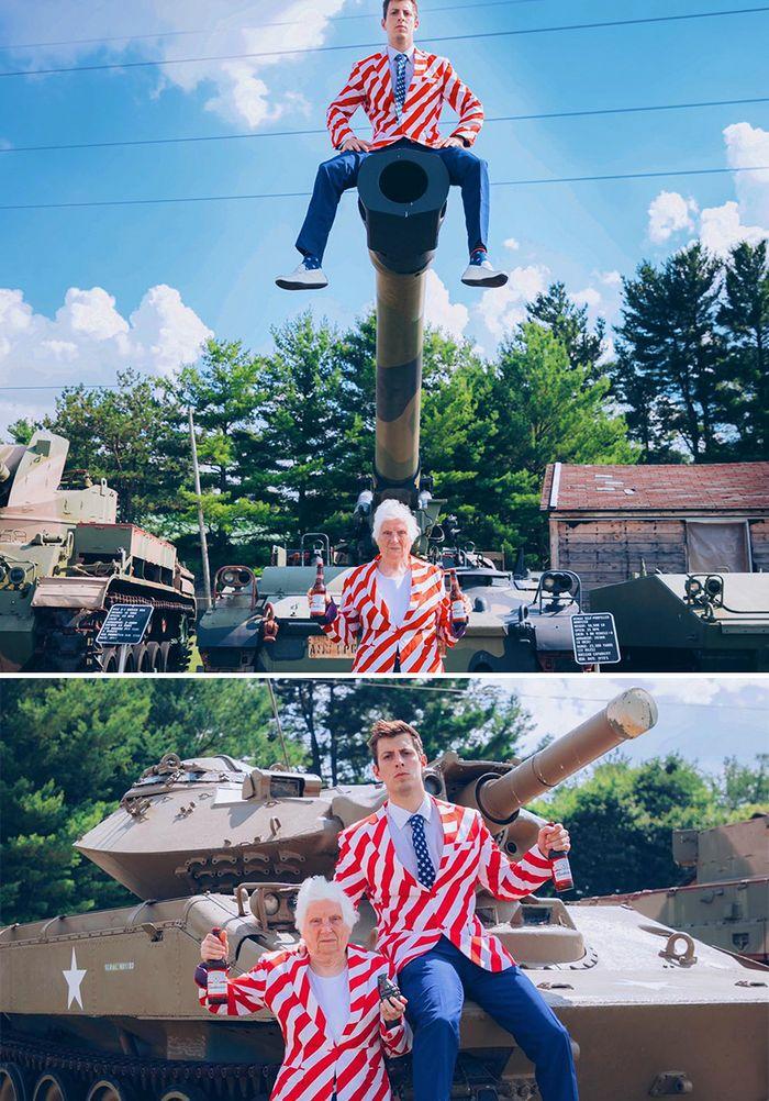 Avó de 93 anos e seu neto se vestem com fantasias e as pessoas adoram (30 fotos) 30