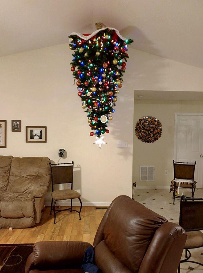 21 dicas genias de como proteger sua árvore de Natal dos animais de estimação 4
