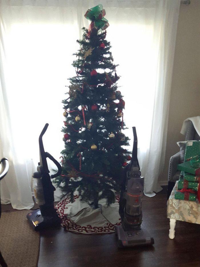 21 dicas genias de como proteger sua árvore de Natal dos animais de estimação 5
