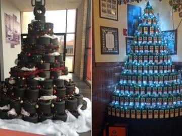 34 vezes funcionários criativos construíram árvores de Natal com temas de trabalho 10