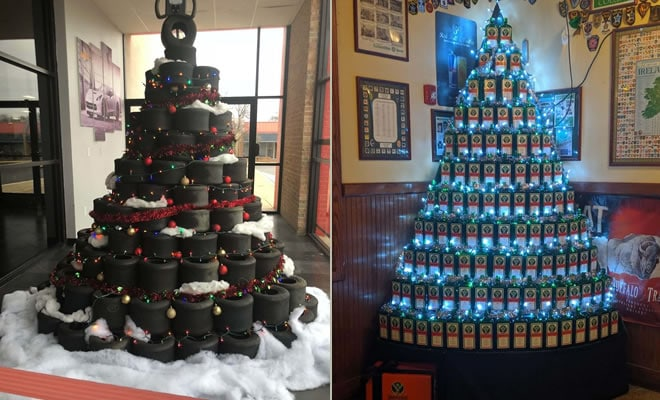 34 vezes funcionários criativos construíram árvores de Natal com temas de trabalho 1
