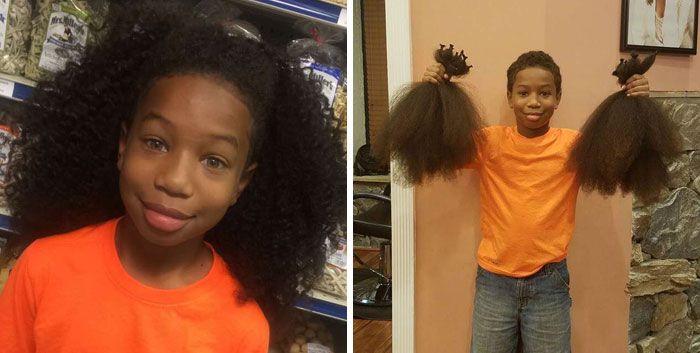 25 motivos para para doar seu cabelo. Antes e depois de pessoas que doaram seus cabelos para pessoas doentes 2