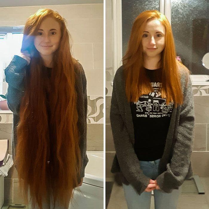 25 motivos para para doar seu cabelo. Antes e depois de pessoas que doaram seus cabelos para pessoas doentes 4