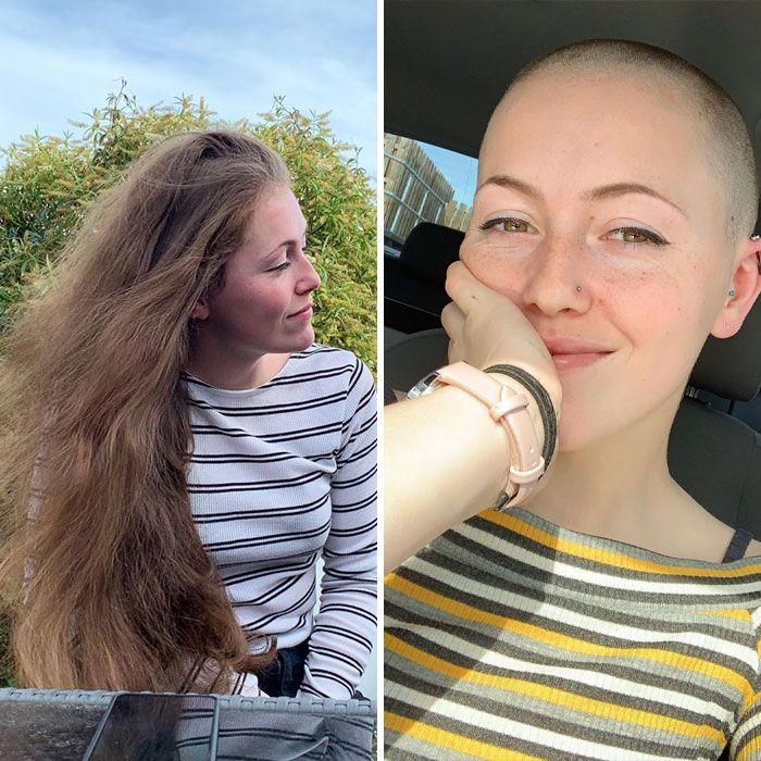 25 motivos para para doar seu cabelo. Antes e depois de pessoas que doaram seus cabelos para pessoas doentes 5