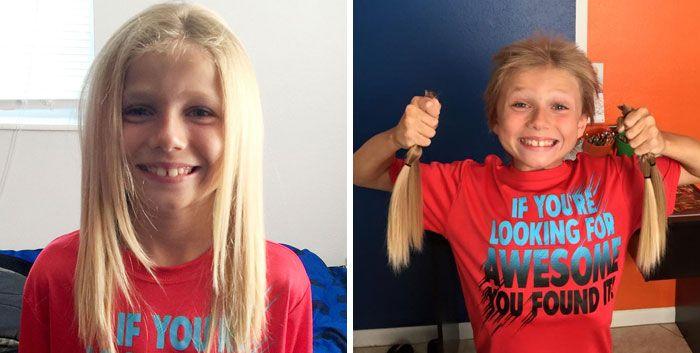 25 motivos para para doar seu cabelo. Antes e depois de pessoas que doaram seus cabelos para pessoas doentes 6