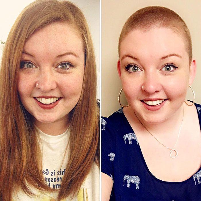 25 motivos para para doar seu cabelo. Antes e depois de pessoas que doaram seus cabelos para pessoas doentes 10