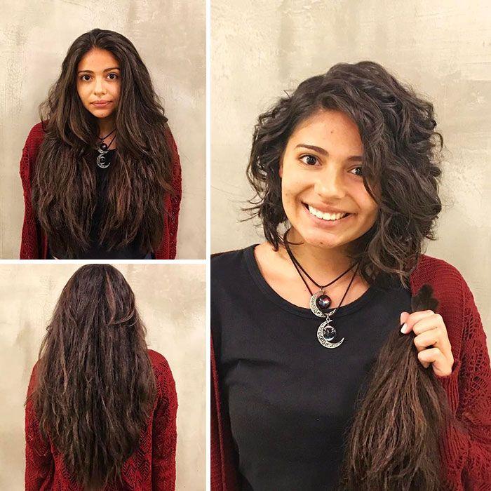 25 motivos para para doar seu cabelo. Antes e depois de pessoas que doaram seus cabelos para pessoas doentes 12
