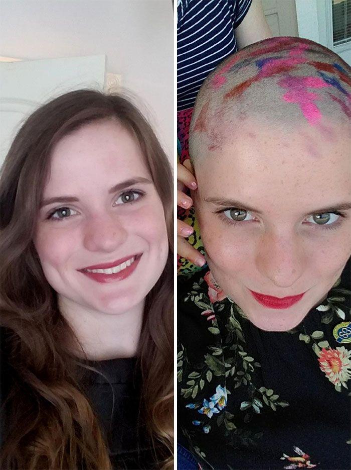 25 motivos para para doar seu cabelo. Antes e depois de pessoas que doaram seus cabelos para pessoas doentes 15