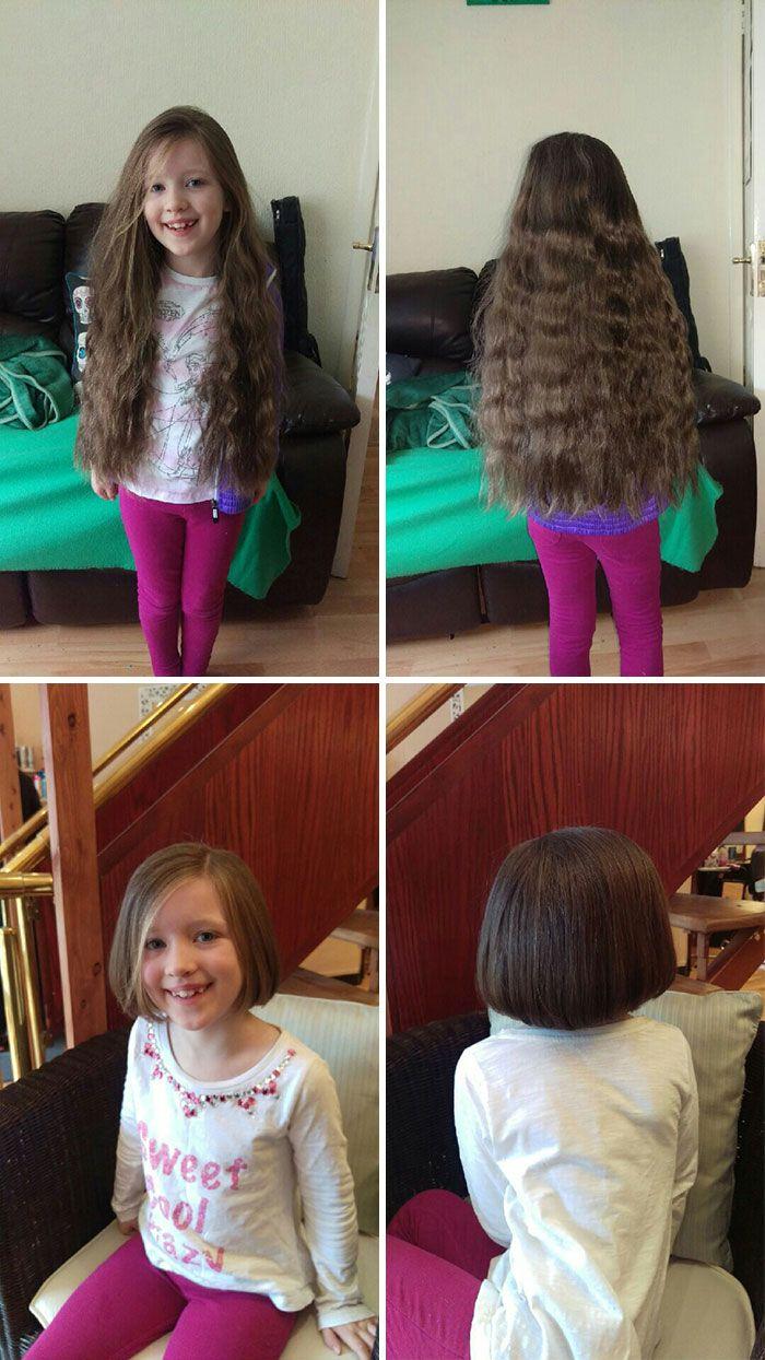 25 motivos para para doar seu cabelo. Antes e depois de pessoas que doaram seus cabelos para pessoas doentes 16