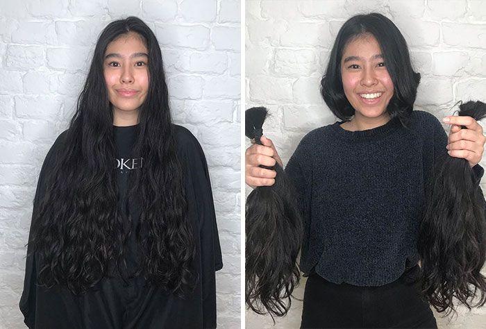 25 motivos para para doar seu cabelo. Antes e depois de pessoas que doaram seus cabelos para pessoas doentes 17