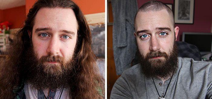 25 motivos para para doar seu cabelo. Antes e depois de pessoas que doaram seus cabelos para pessoas doentes 20