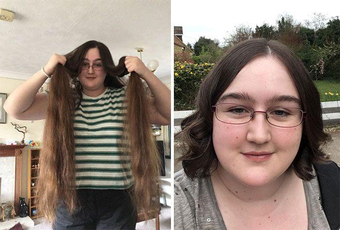 25 motivos para para doar seu cabelo. Antes e depois de pessoas que doaram seus cabelos para pessoas doentes 23