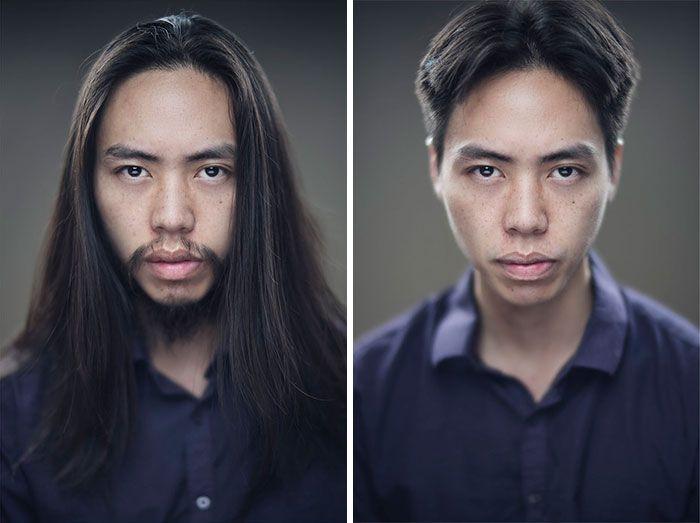 25 motivos para para doar seu cabelo. Antes e depois de pessoas que doaram seus cabelos para pessoas doentes 24