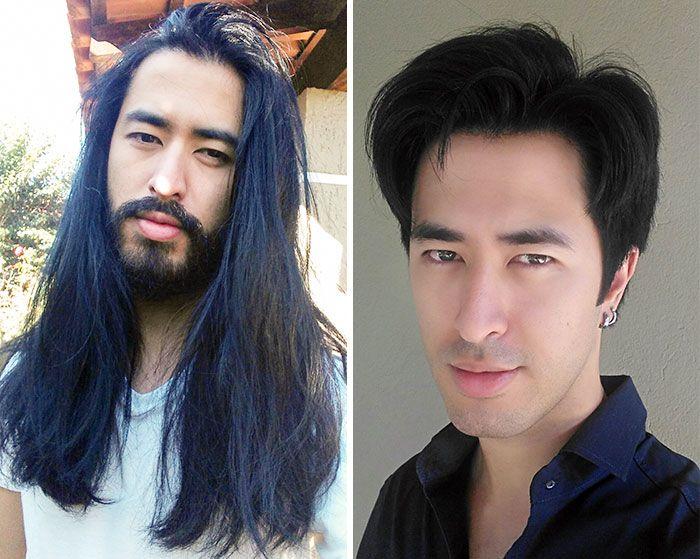 25 motivos para para doar seu cabelo. Antes e depois de pessoas que doaram seus cabelos para pessoas doentes 25