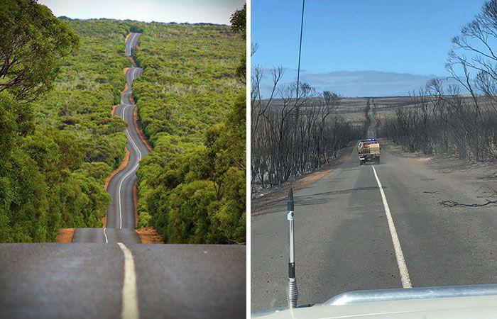 21 Antes e depois, fotos da Austrália mostram quanto dano os incêndios já causaram 2