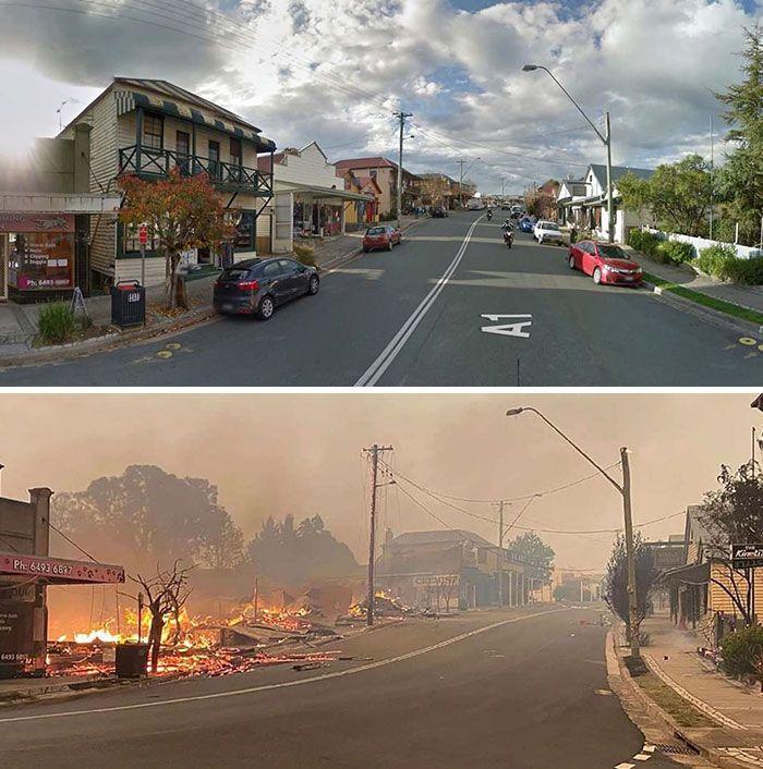 21 Antes e depois, fotos da Austrália mostram quanto dano os incêndios já causaram 8
