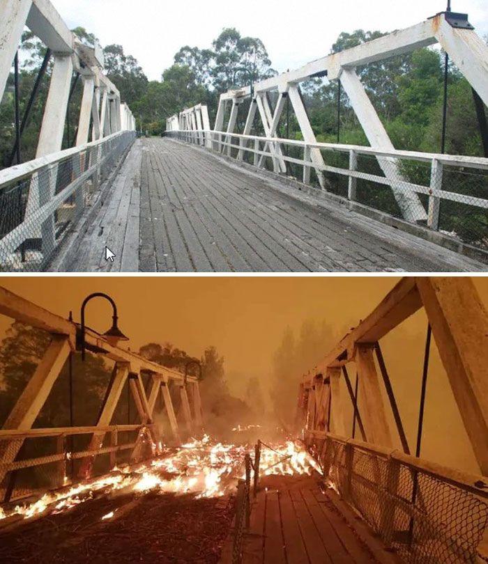 21 Antes e depois, fotos da Austrália mostram quanto dano os incêndios já causaram 9