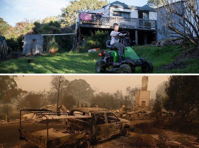 21 Antes e depois, fotos da Austrália mostram quanto dano os incêndios já causaram 12