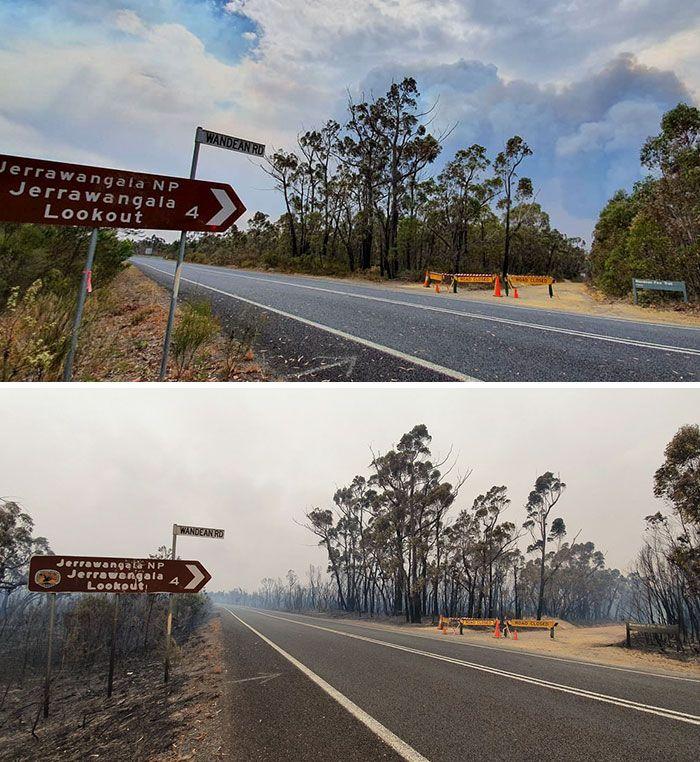 21 Antes e depois, fotos da Austrália mostram quanto dano os incêndios já causaram 14