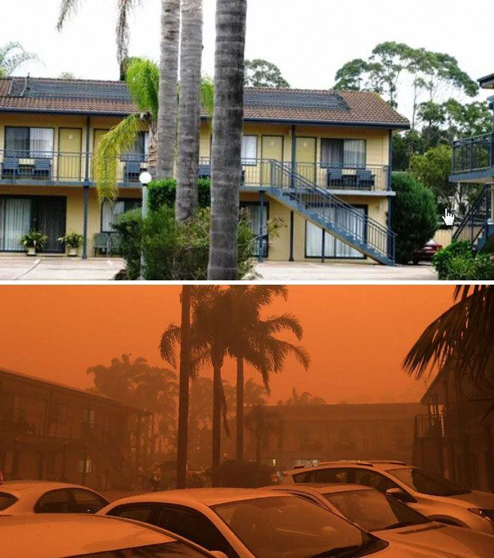 21 Antes e depois, fotos da Austrália mostram quanto dano os incêndios já causaram 16