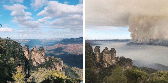 21 Antes e depois, fotos da Austrália mostram quanto dano os incêndios já causaram 17