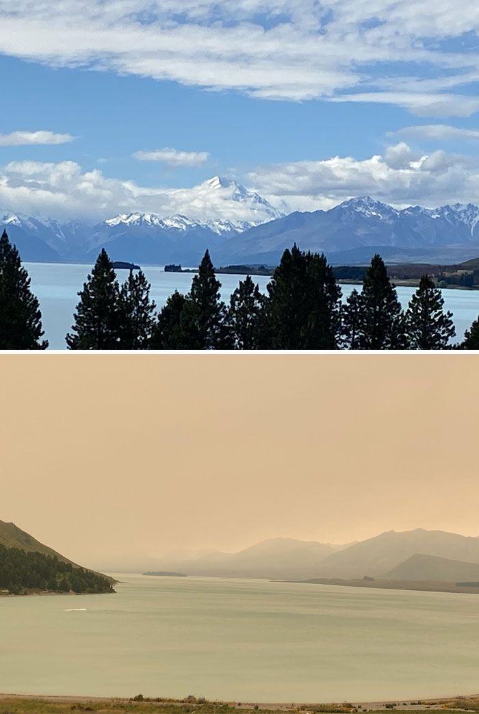 21 Antes e depois, fotos da Austrália mostram quanto dano os incêndios já causaram 18
