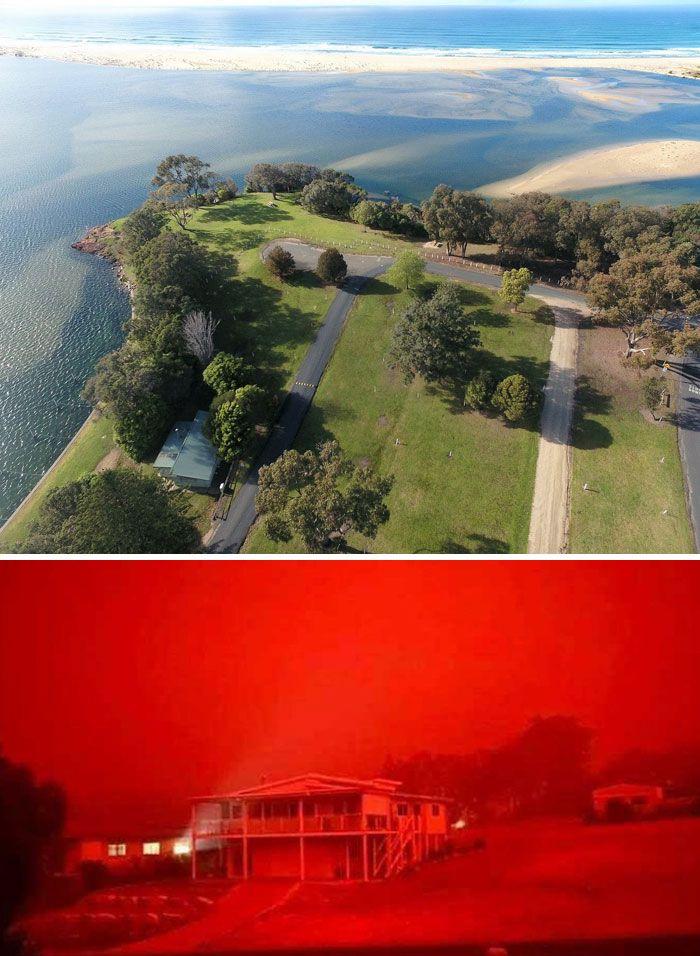 21 Antes e depois, fotos da Austrália mostram quanto dano os incêndios já causaram 19