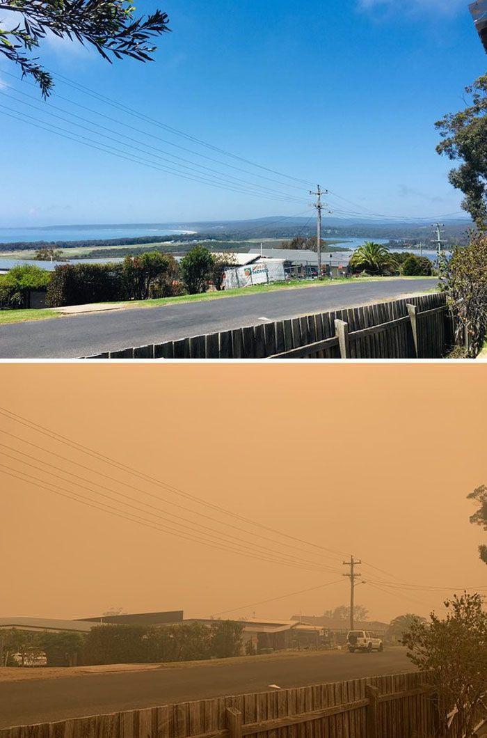 21 Antes e depois, fotos da Austrália mostram quanto dano os incêndios já causaram 21