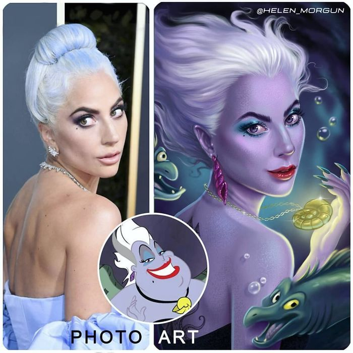 Artista imagina celebridades como personagens da Disney (32 fotos) 4