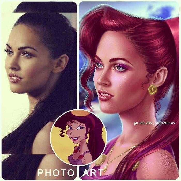 Artista imagina celebridades como personagens da Disney (32 fotos) 25