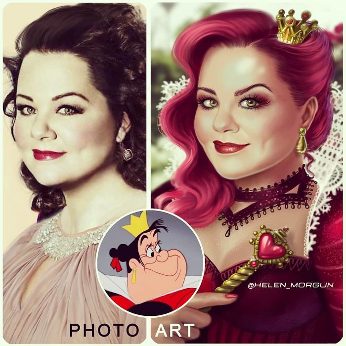 Artista imagina celebridades como personagens da Disney (32 fotos) 30