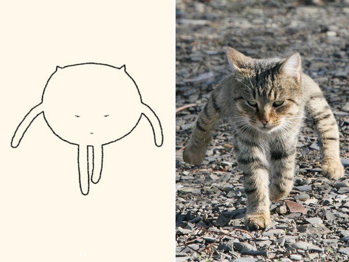 21 desenhos de gato realmente precisos 10