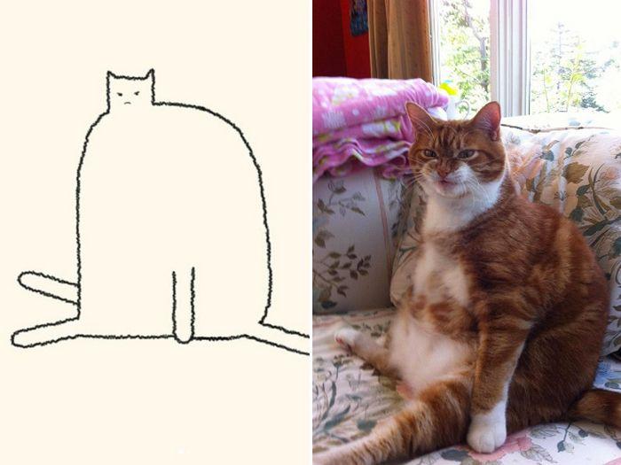 21 desenhos de gato realmente precisos 12