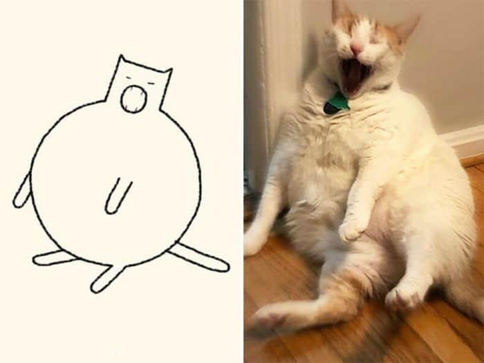 21 desenhos de gato realmente precisos 17