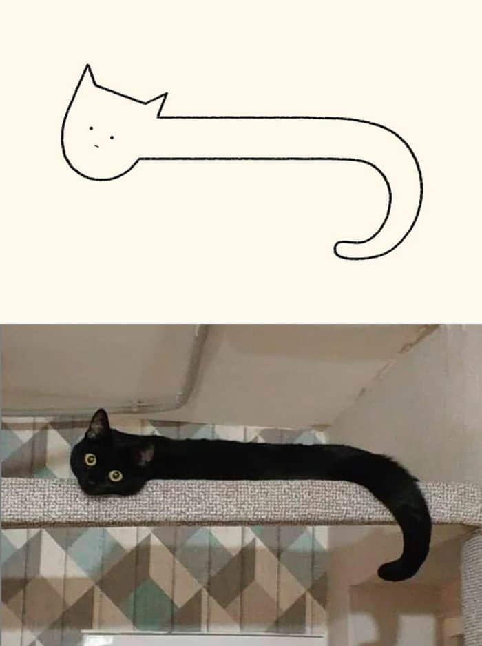 21 desenhos de gato realmente precisos 20