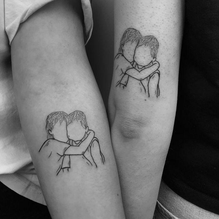 39 ideias lindas para tatuagens para irmãs e melhores amigas 21