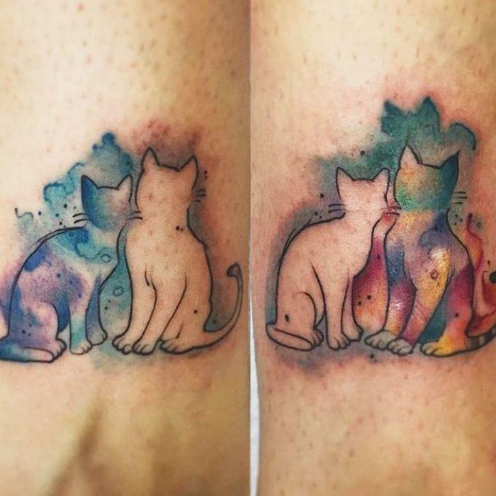 39 ideias lindas para tatuagens para irmãs e melhores amigas 28