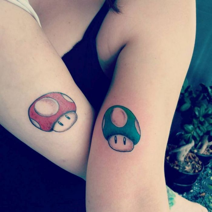 39 ideias lindas para tatuagens para irmãs e melhores amigas 29