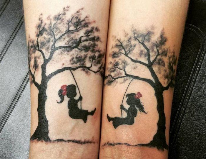 39 ideias lindas para tatuagens para irmãs e melhores amigas 31