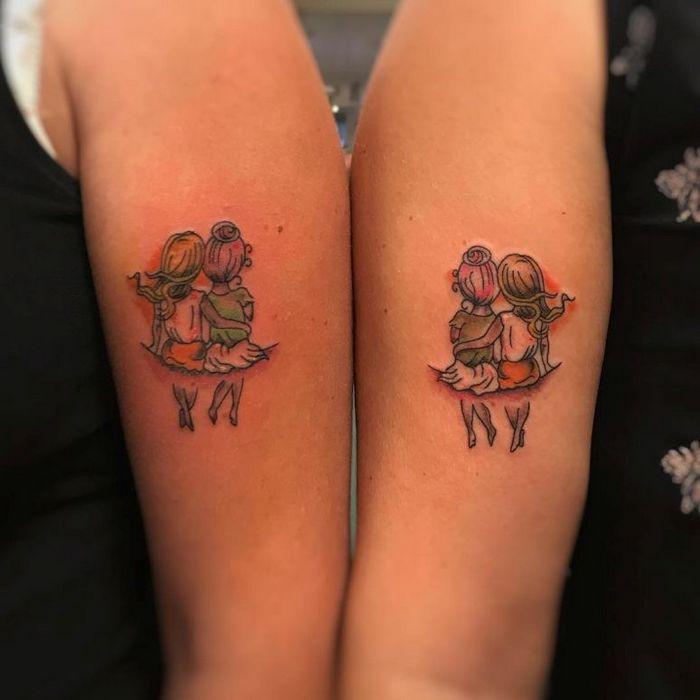 39 ideias lindas para tatuagens para irmãs e melhores amigas 33