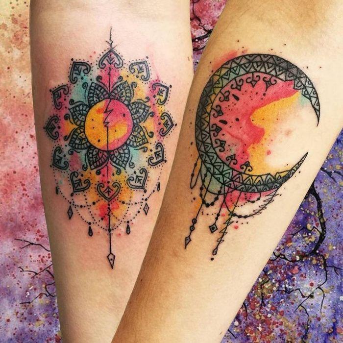 39 ideias lindas para tatuagens para irmãs e melhores amigas 34