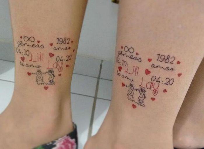 39 ideias lindas para tatuagens para irmãs e melhores amigas 39