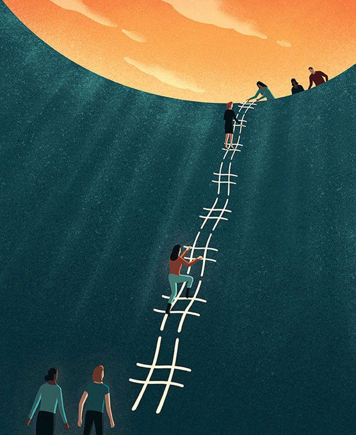 30 ilustrações digitais instigantes que expõem as falhas de nossa sociedade moderna 4