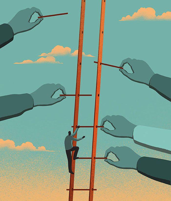 30 ilustrações digitais instigantes que expõem as falhas de nossa sociedade moderna 18