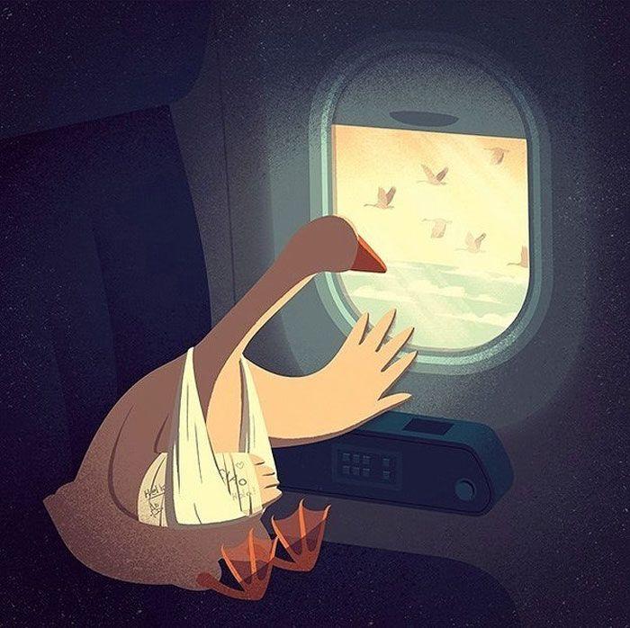 30 ilustrações digitais instigantes que expõem as falhas de nossa sociedade moderna 19