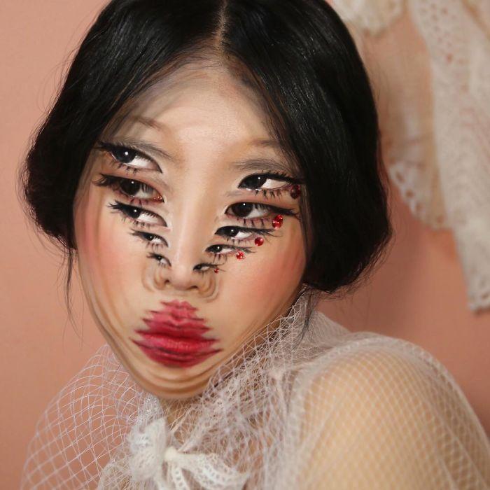 O que este artista faz com o rosto dela mexe seriamente com a sua mente (36 fotos) 4