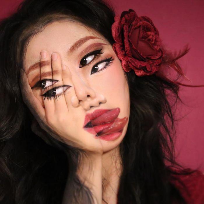 O que este artista faz com o rosto dela mexe seriamente com a sua mente (36 fotos) 6