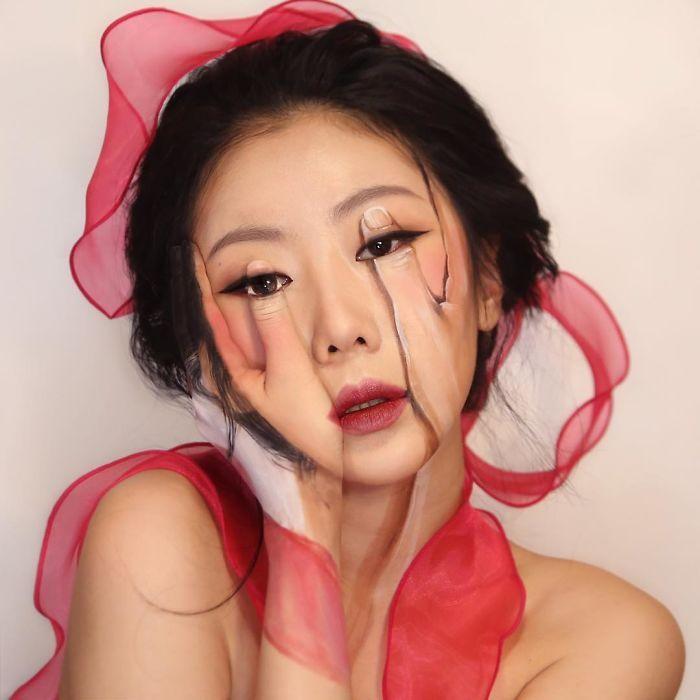 O que este artista faz com o rosto dela mexe seriamente com a sua mente (36 fotos) 8