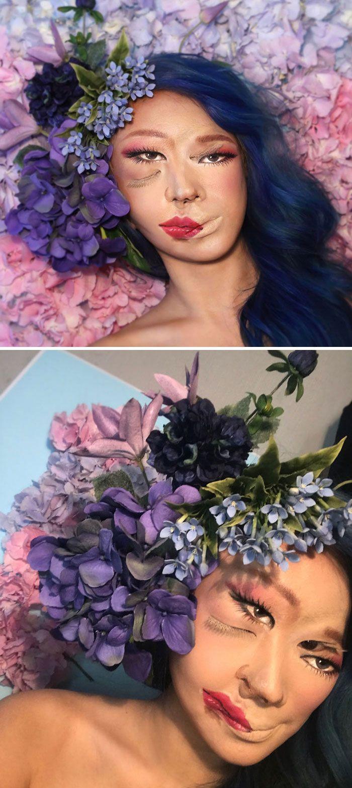 O que este artista faz com o rosto dela mexe seriamente com a sua mente (36 fotos) 17